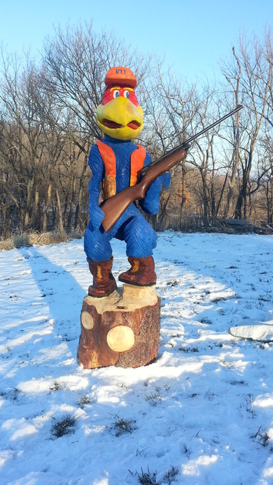 World wide chain saw carving art forum mascot at